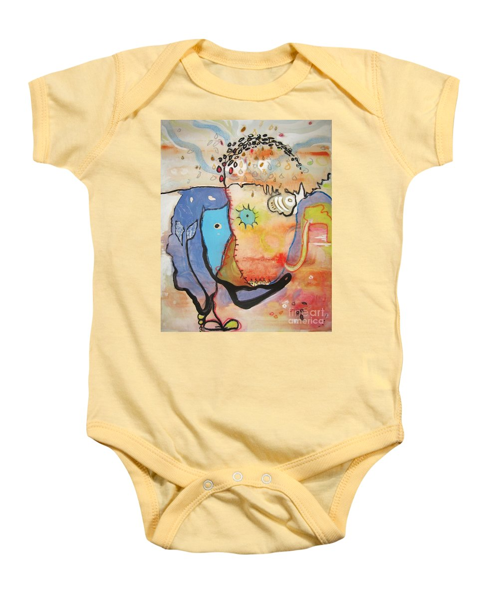 Abstract Paintings Baby Onesie featuring the painting Wandering In Thought by Seon-Jeong Kim