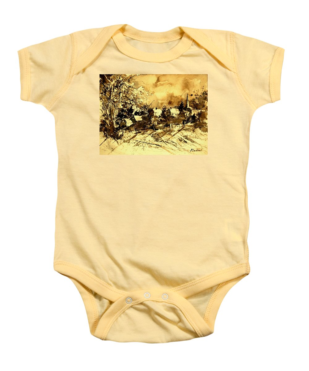Baby Onesie featuring the painting Watercolor 01 by Pol Ledent