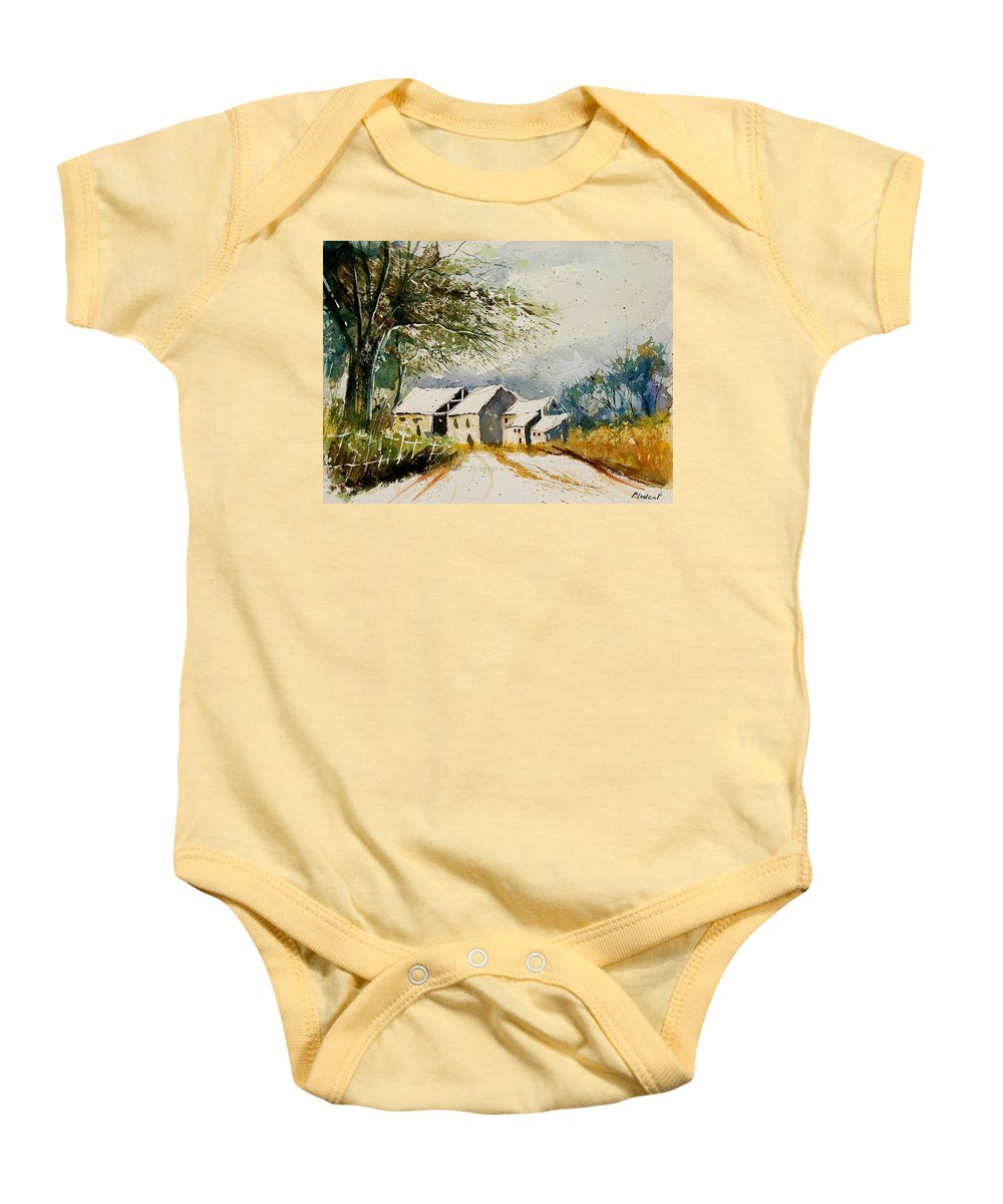 Landscape Baby Onesie featuring the painting Watercolor 010708 by Pol Ledent