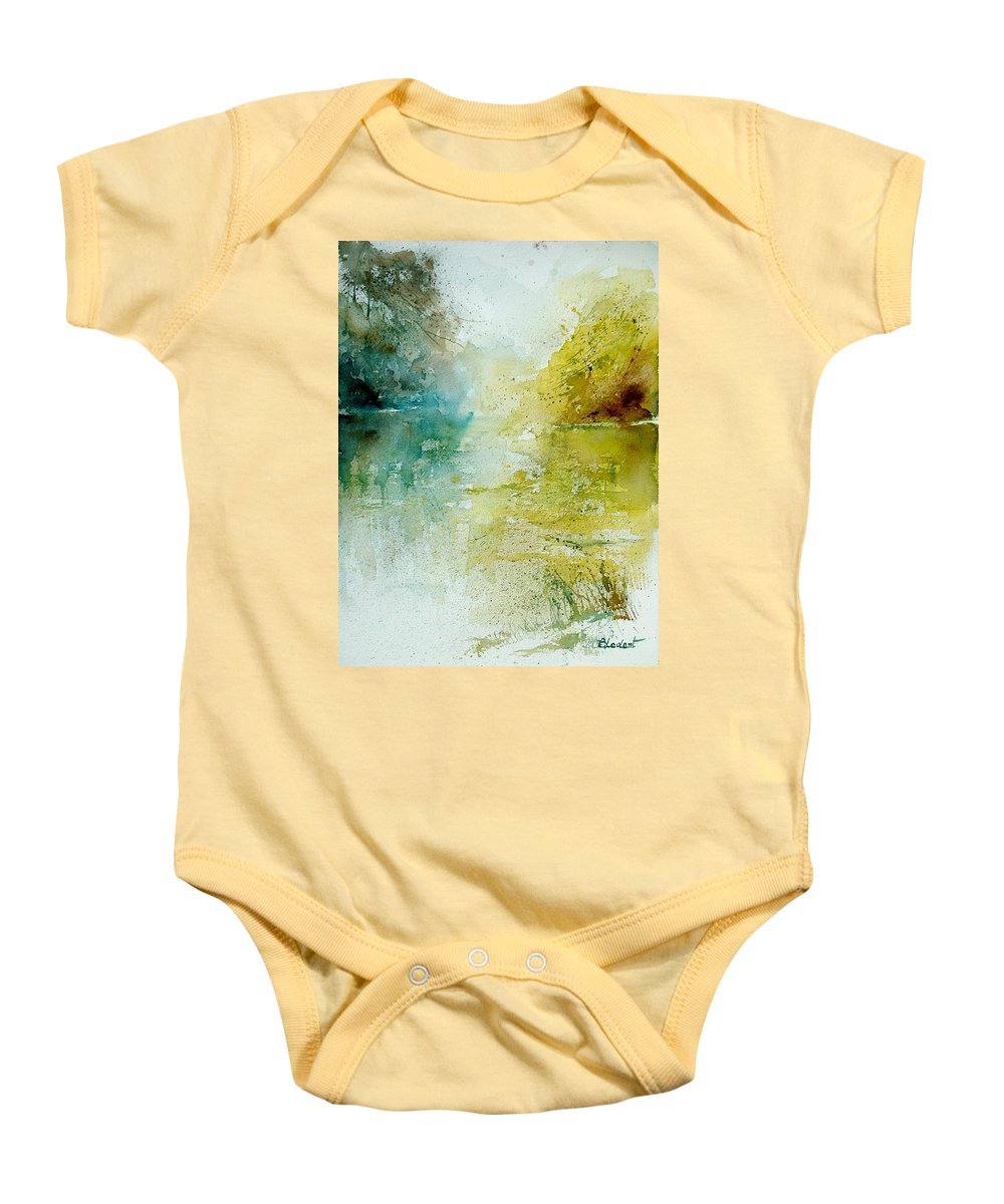 Water Baby Onesie featuring the painting Watercolor 111207 by Pol Ledent