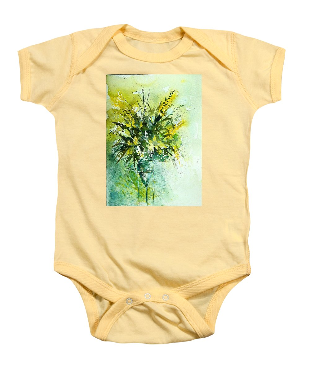 Flowers Baby Onesie featuring the painting Watercolor 120406 by Pol Ledent