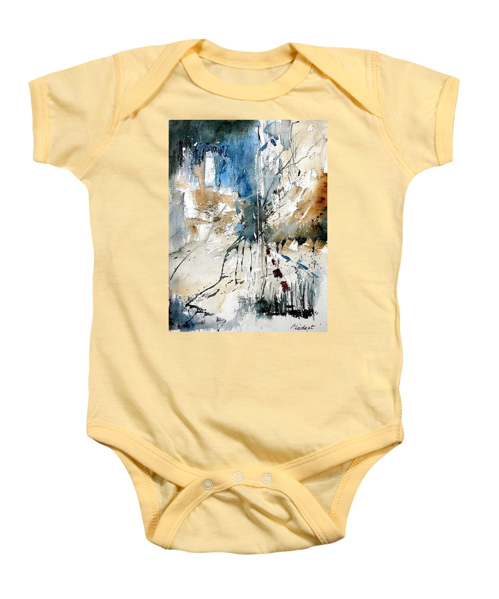Abstract Baby Onesie featuring the painting Watercolor 251108 by Pol Ledent