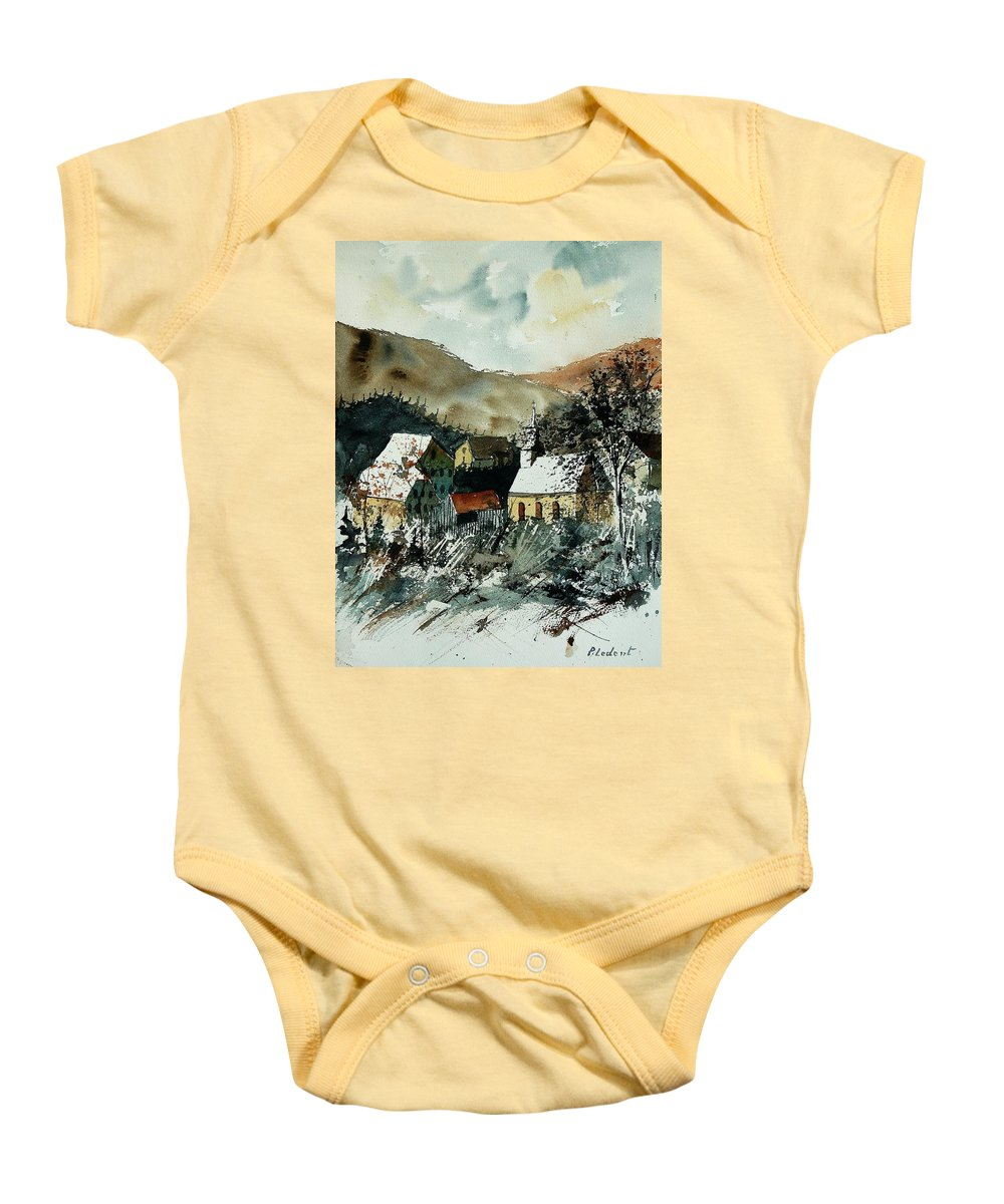 Winter Baby Onesie featuring the painting Watercolor 260107 by Pol Ledent