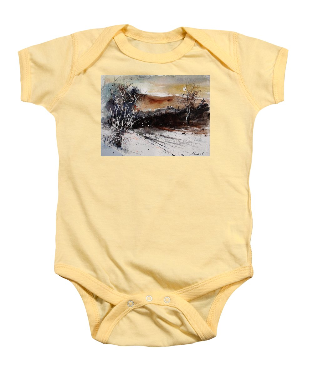 Tree Baby Onesie featuring the painting Watercolor 270908 by Pol Ledent