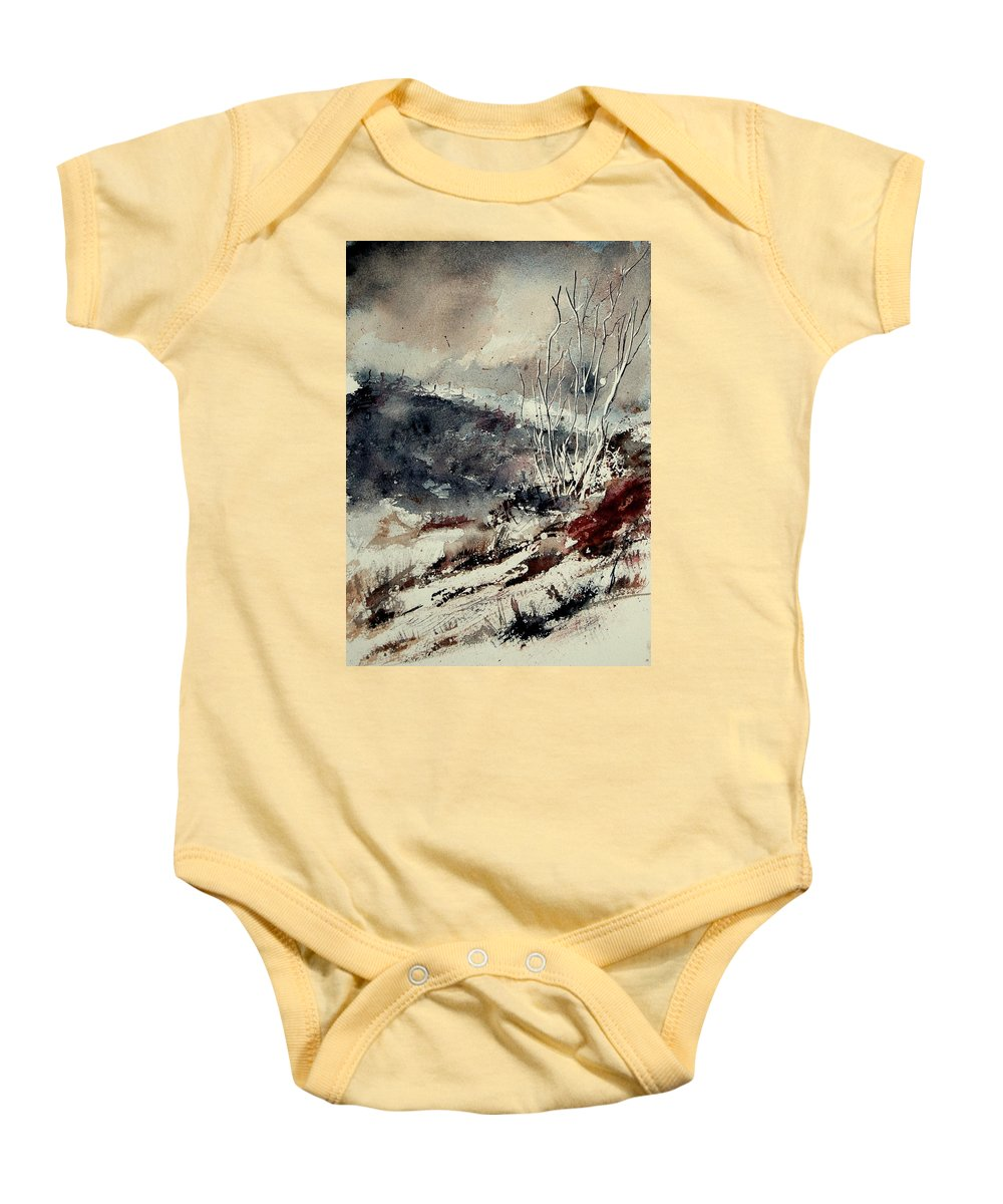 Winter Baby Onesie featuring the painting Watercolor 281207 by Pol Ledent