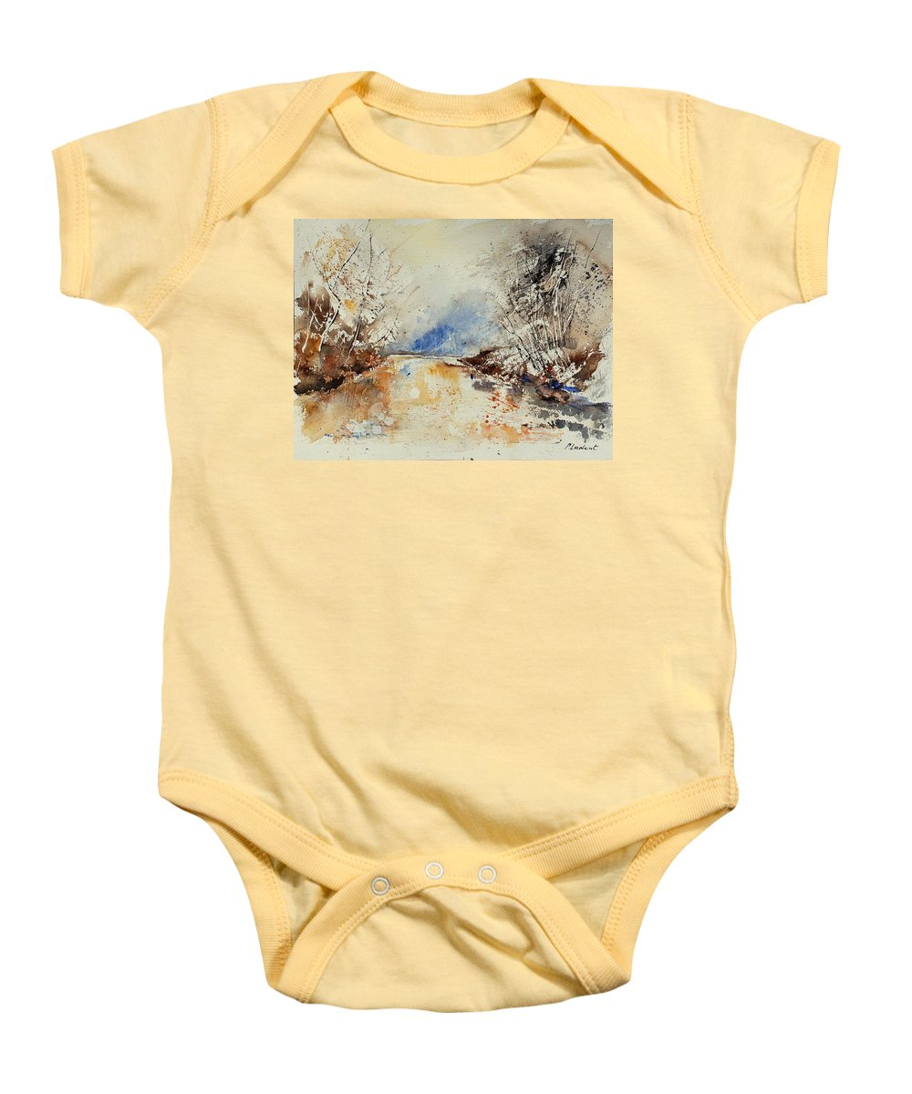 Water Baby Onesie featuring the painting Watercolor 903002 by Pol Ledent