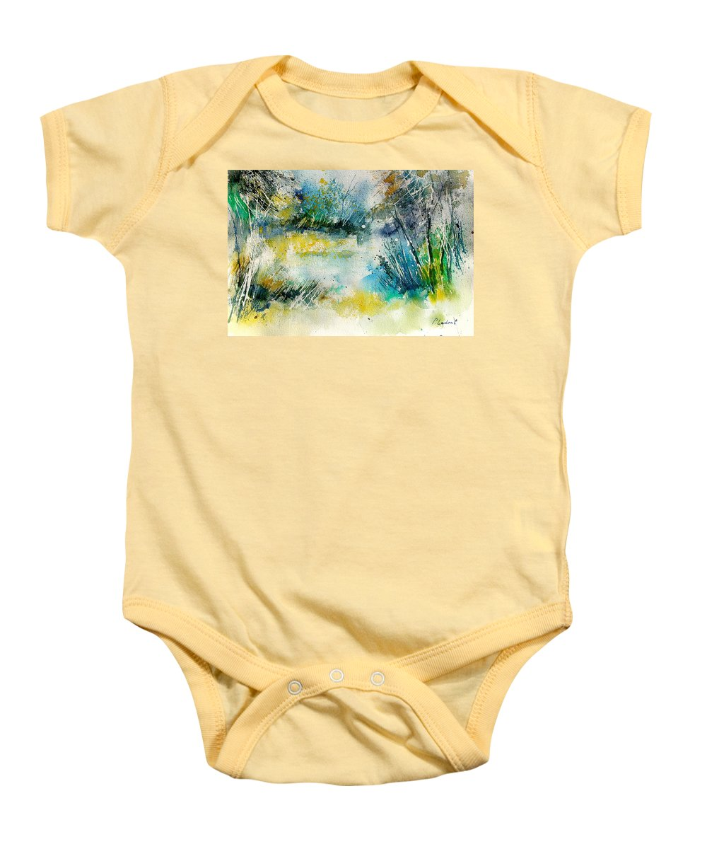 Water Baby Onesie featuring the painting Watercolor 906020 by Pol Ledent