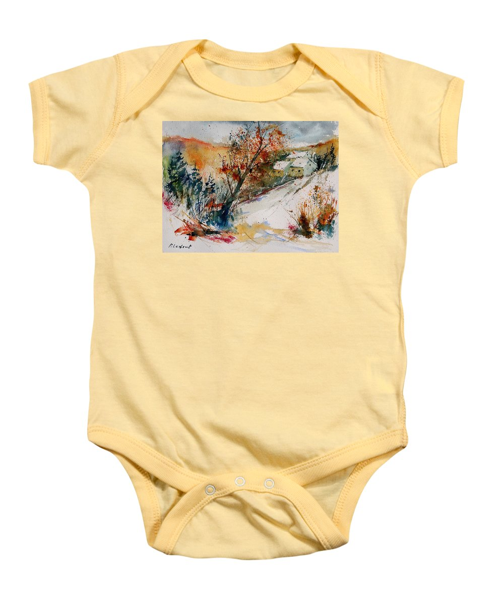 Tree Baby Onesie featuring the painting Watercolor 908002 by Pol Ledent