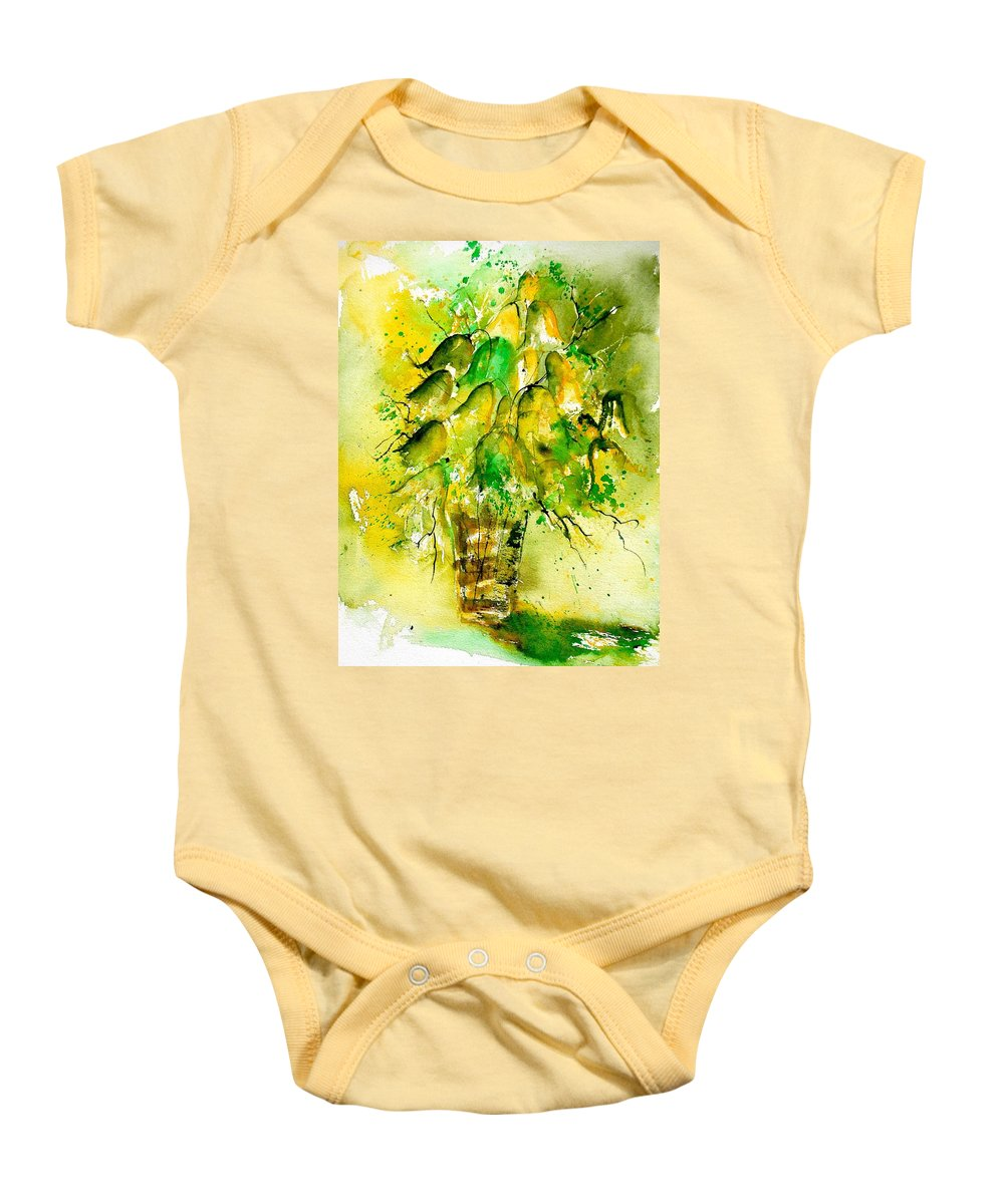 Flowers Baby Onesie featuring the painting Watercolor 90801 by Pol Ledent