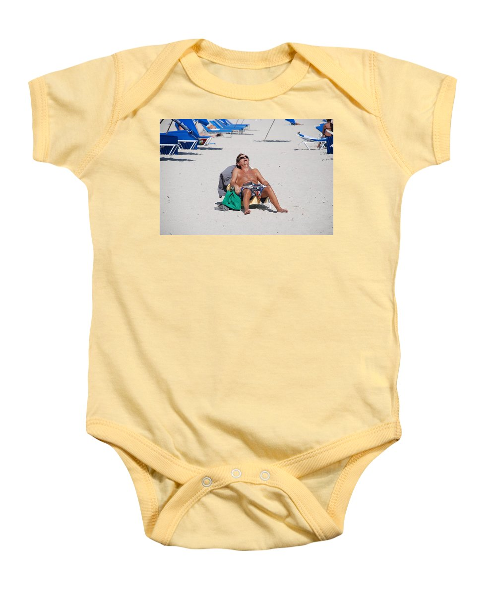 Beach Baby Onesie featuring the photograph Weekend At Bernies by Rob Hans