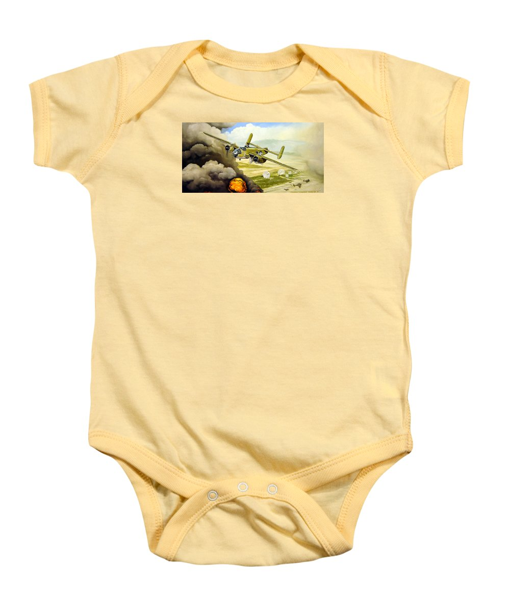 Aviation Baby Onesie featuring the painting Wild Cargo by Marc Stewart