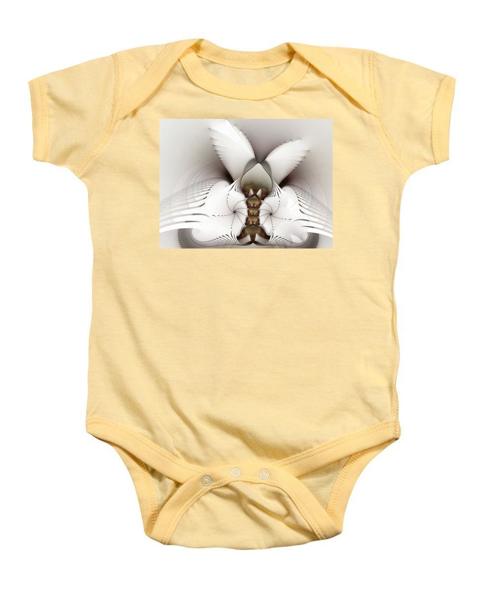 Fractal Baby Onesie featuring the digital art Wings In Motion by Amorina Ashton