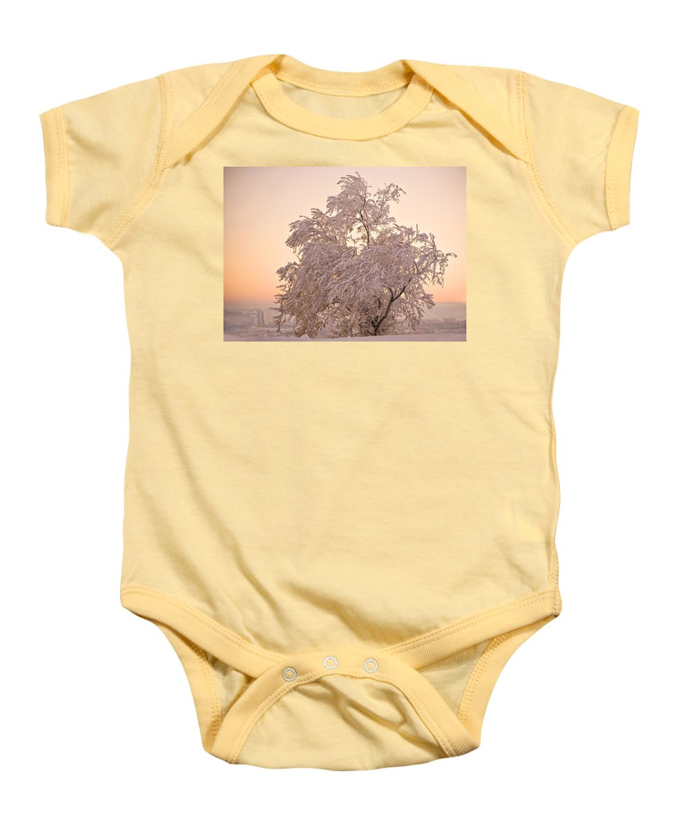 Winter Baby Onesie featuring the photograph Winter Sunset by Marilyn Hunt