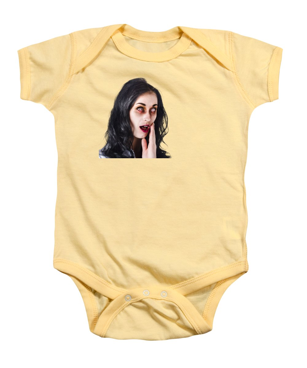 Woman In Horror Makeup Onesie for Sale by Jorgo Photography - Wall ...