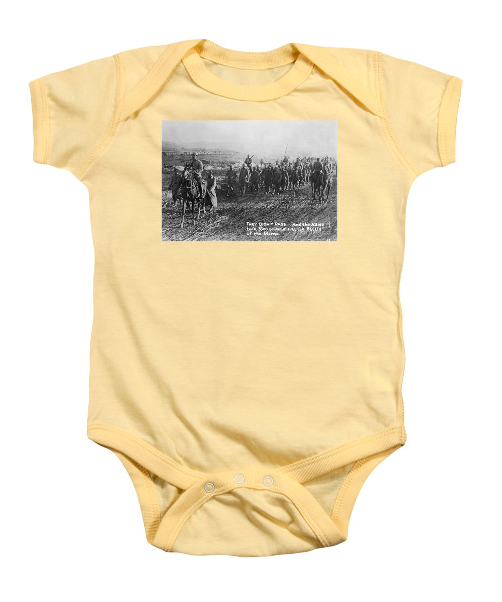 1918 Baby Onesie featuring the photograph World War I: German Pows by Granger
