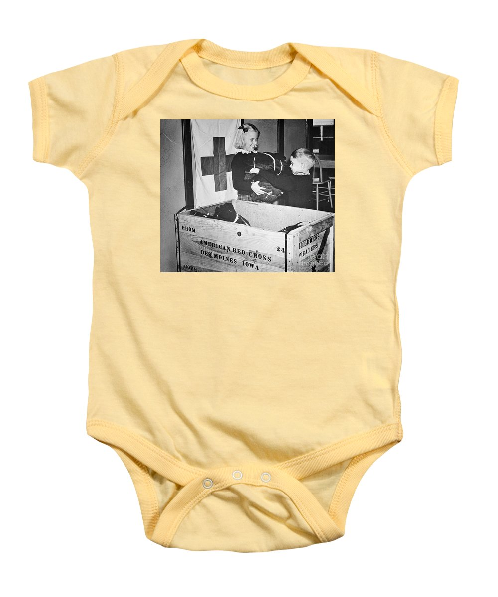 1942 Baby Onesie featuring the photograph Ww II: Red Cross, C1942-43 by Granger
