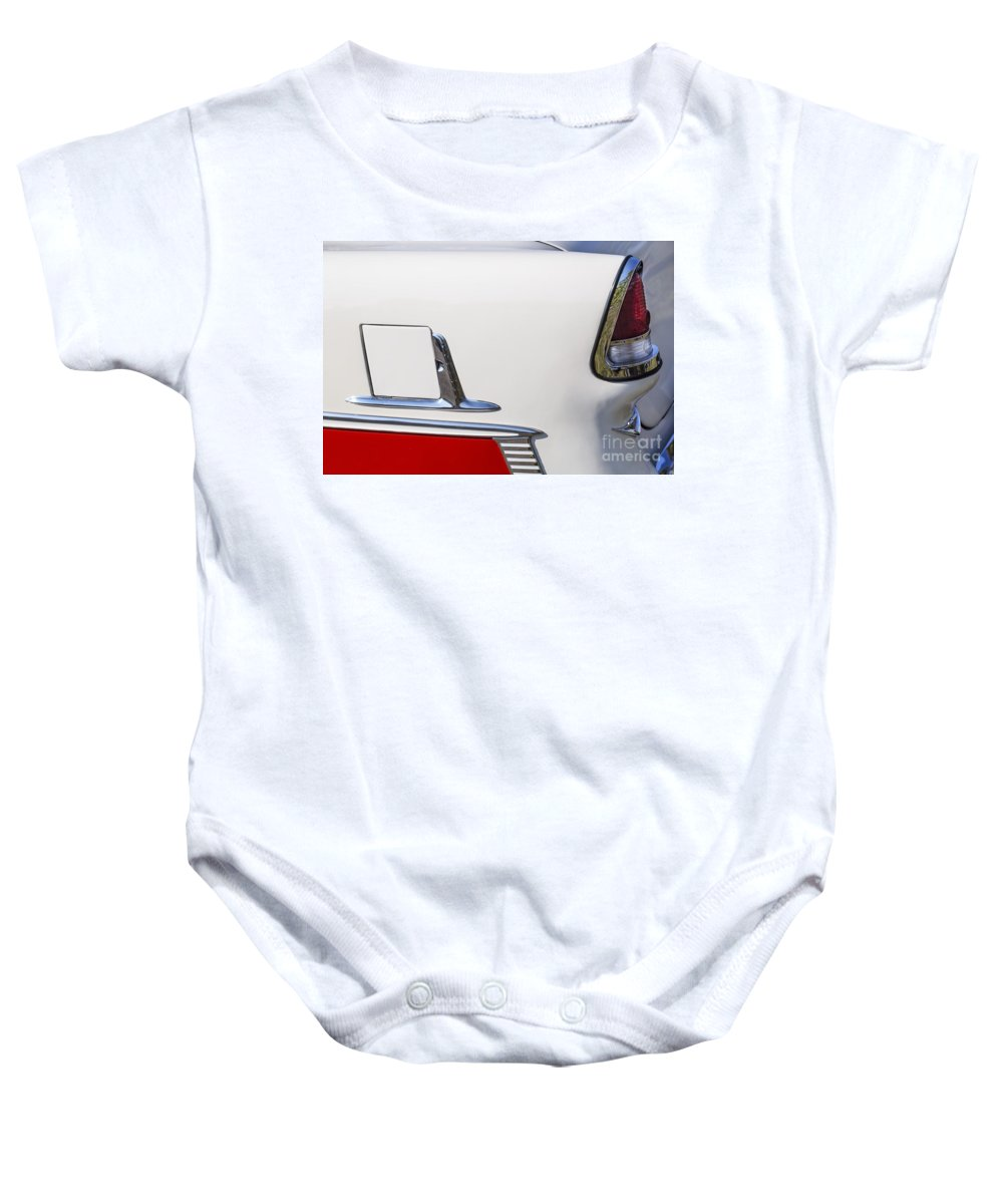 1955 Chevrolet Baby Onesie featuring the photograph 1955 Belair by Dennis Hedberg