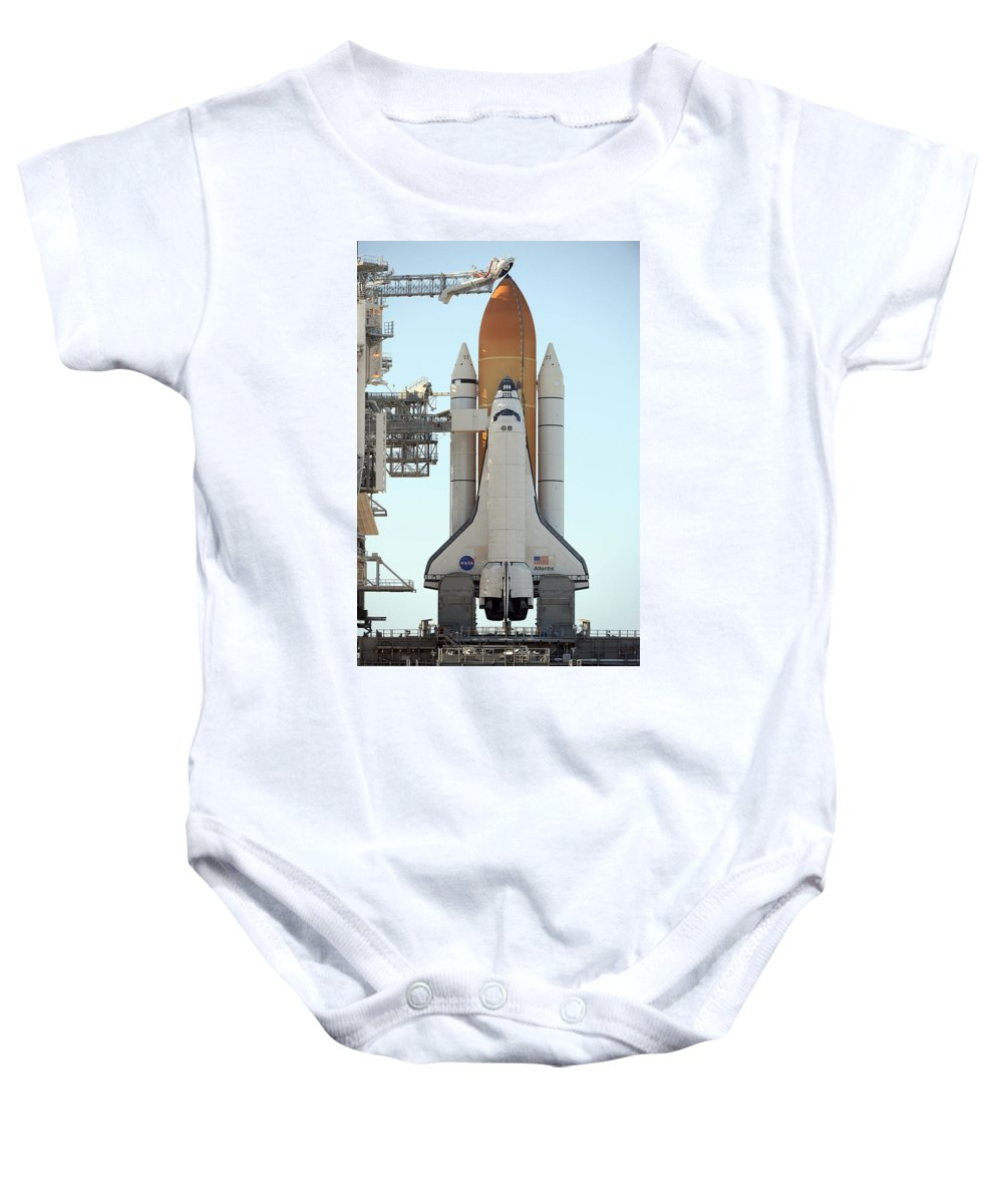 Astronomy Baby Onesie featuring the photograph Atlantis Space Shuttle by Science Source