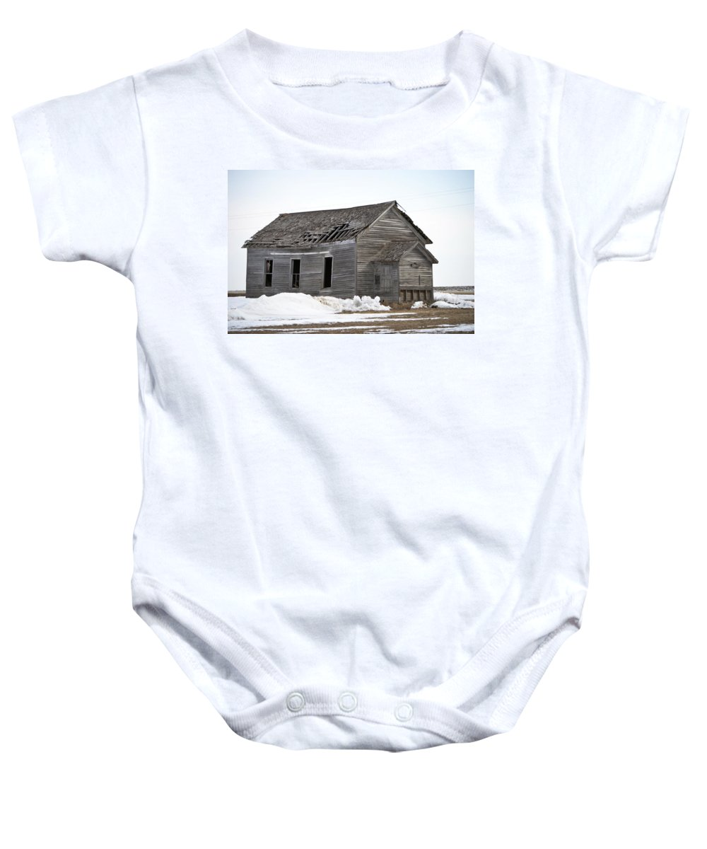 Country School Baby Onesie featuring the photograph Country School by Bonfire Photography