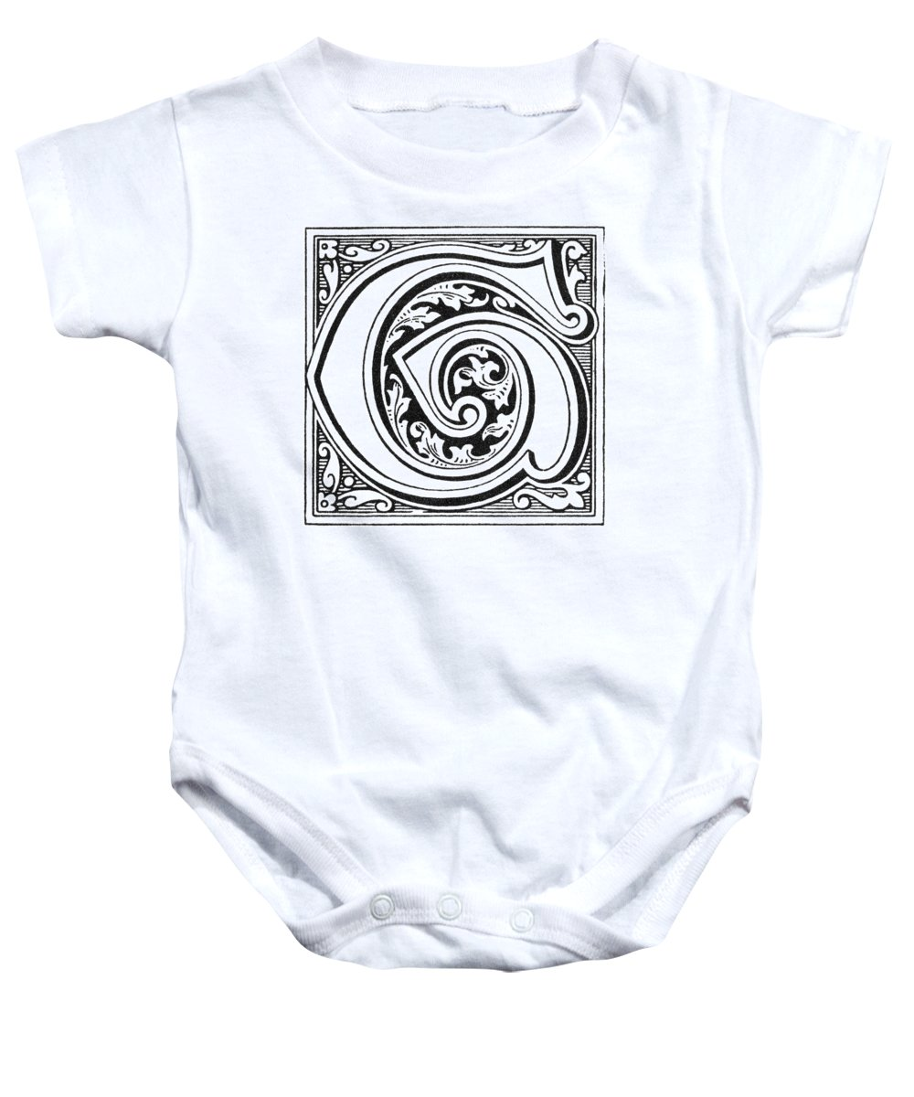 1890 Baby Onesie featuring the painting Decorative Initial G by Granger