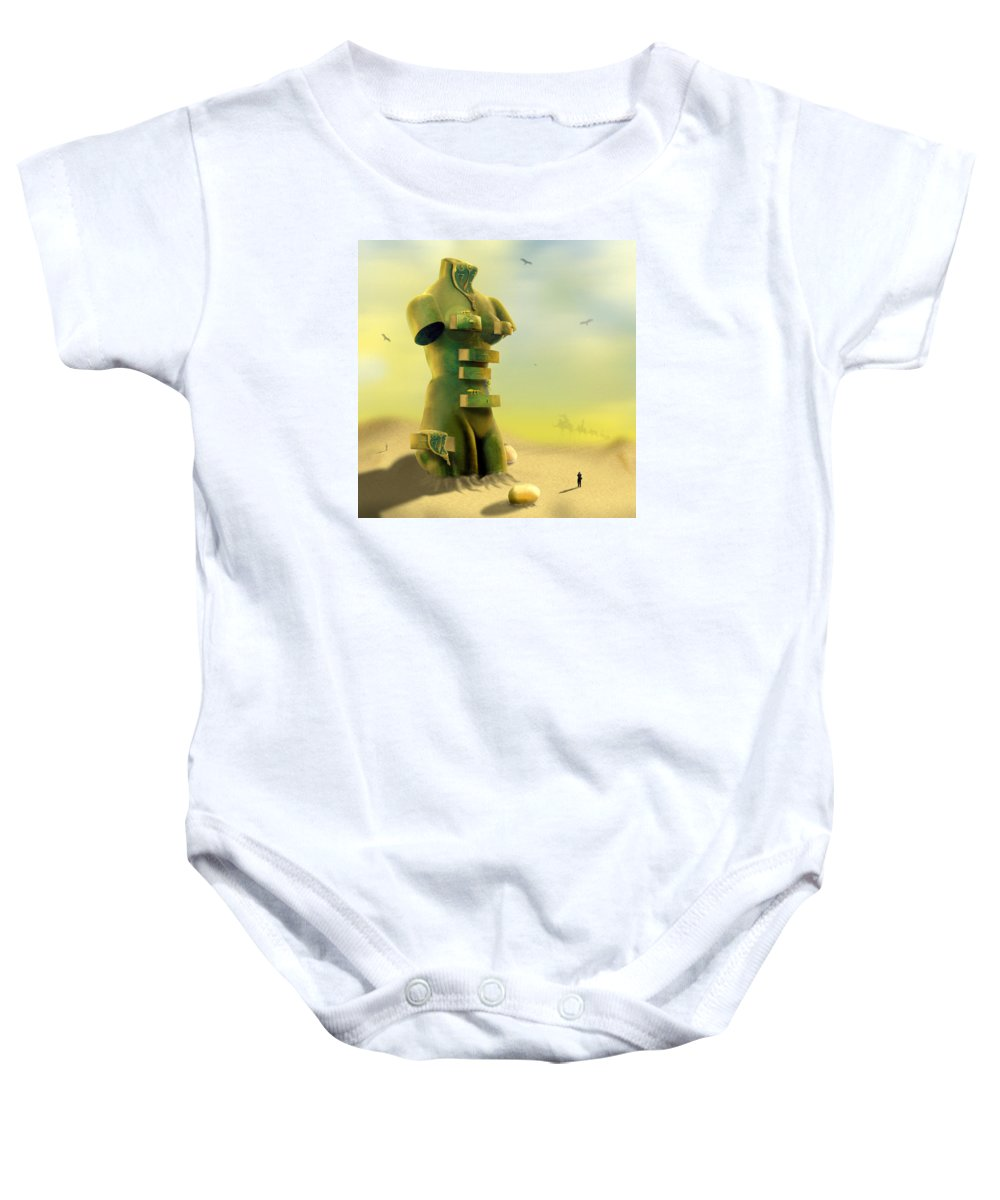 Surrealism Baby Onesie featuring the photograph Drawers by Mike McGlothlen