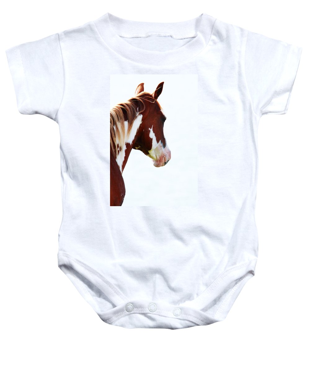 Horses Baby Onesie featuring the photograph Horse Portrait by Aidan Moran