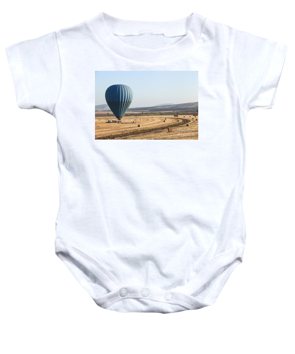 Jezreel Valley Baby Onesie featuring the photograph Hot Air Balloon by Gal Eitan