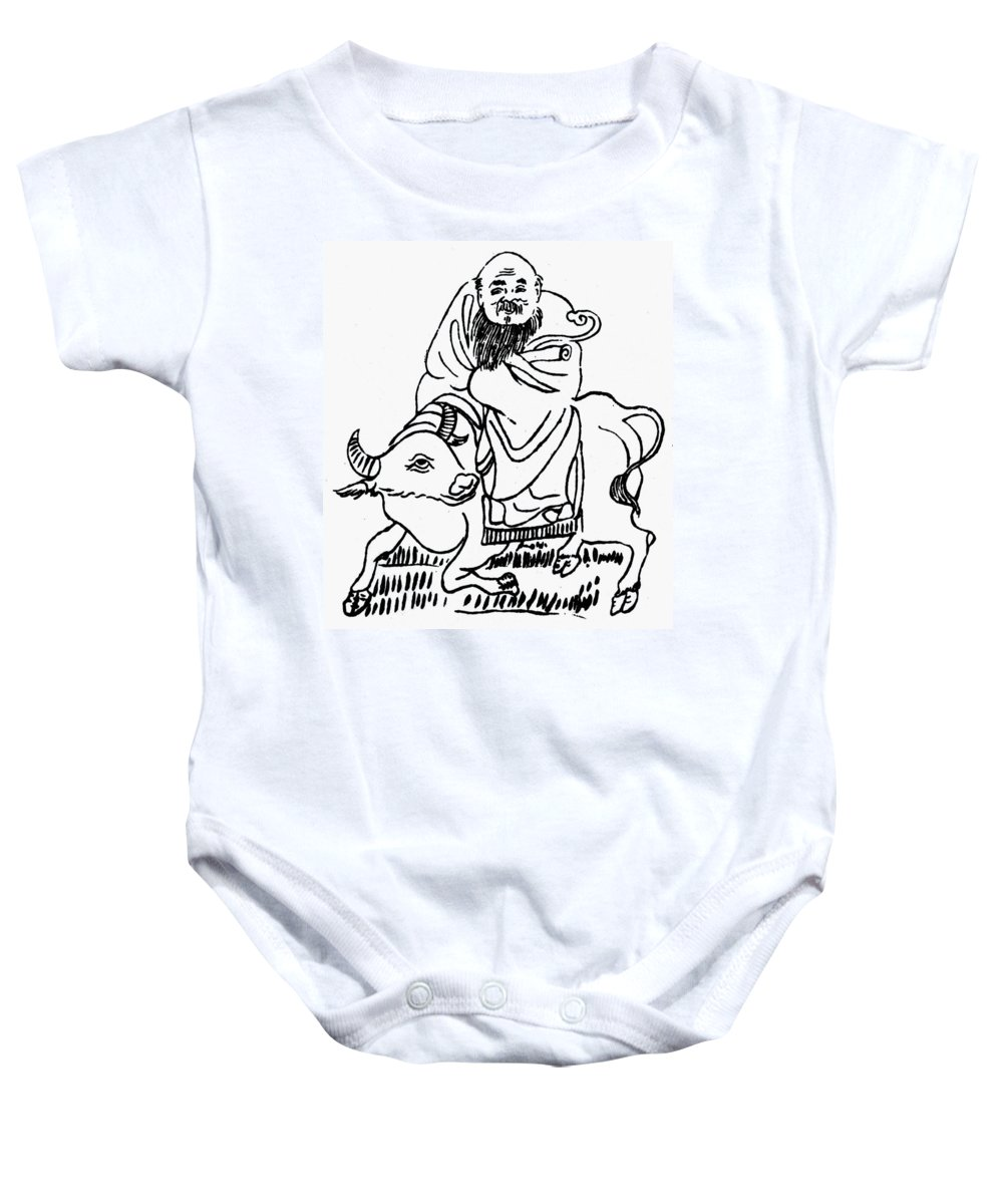 6th Century B.c Baby Onesie featuring the drawing Lao-tzu (c604-531 B by Granger