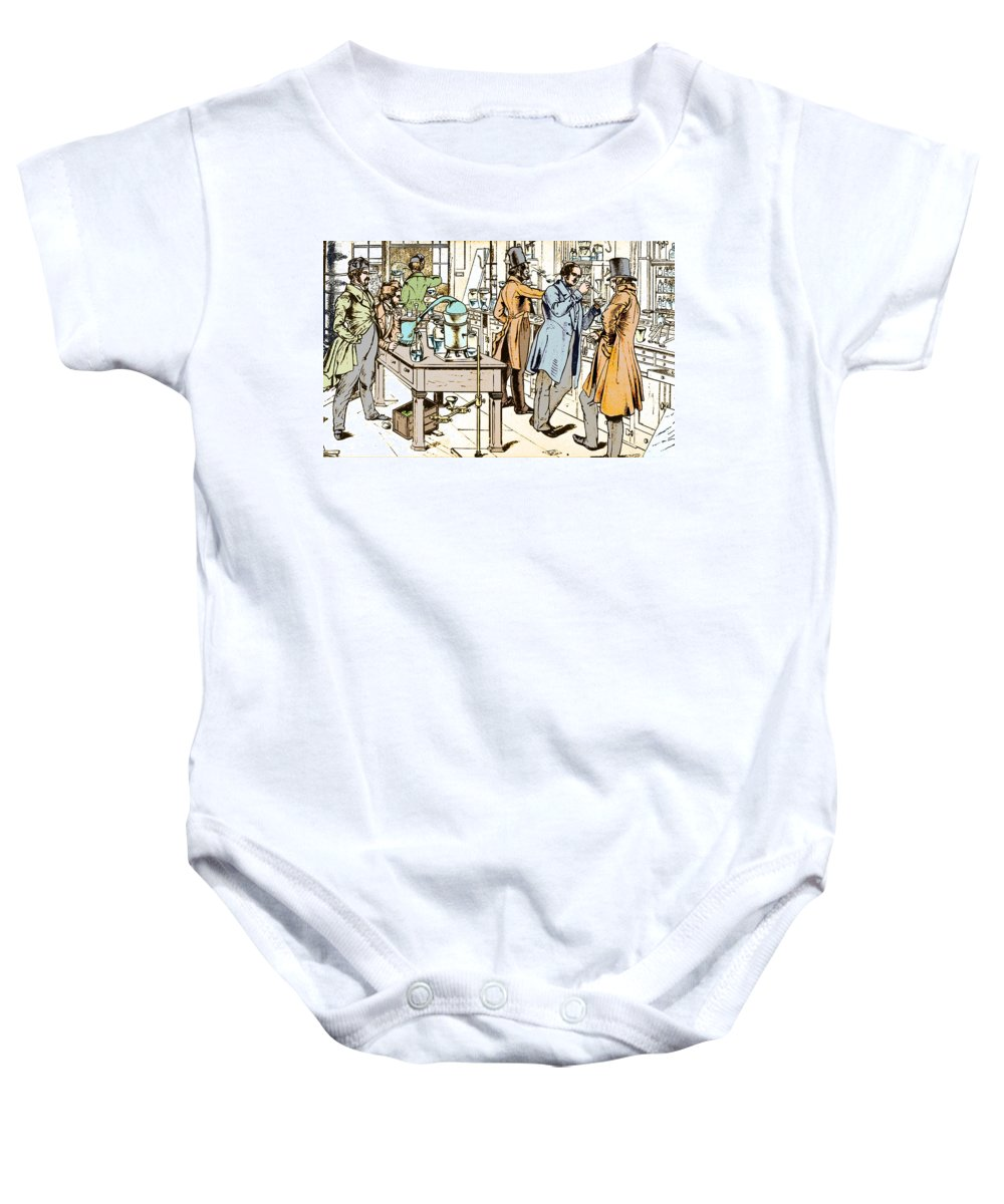 Justus Von Liebig Baby Onesie featuring the photograph Liebigs Laboratory At Giessen, 1842 by Wellcome Images