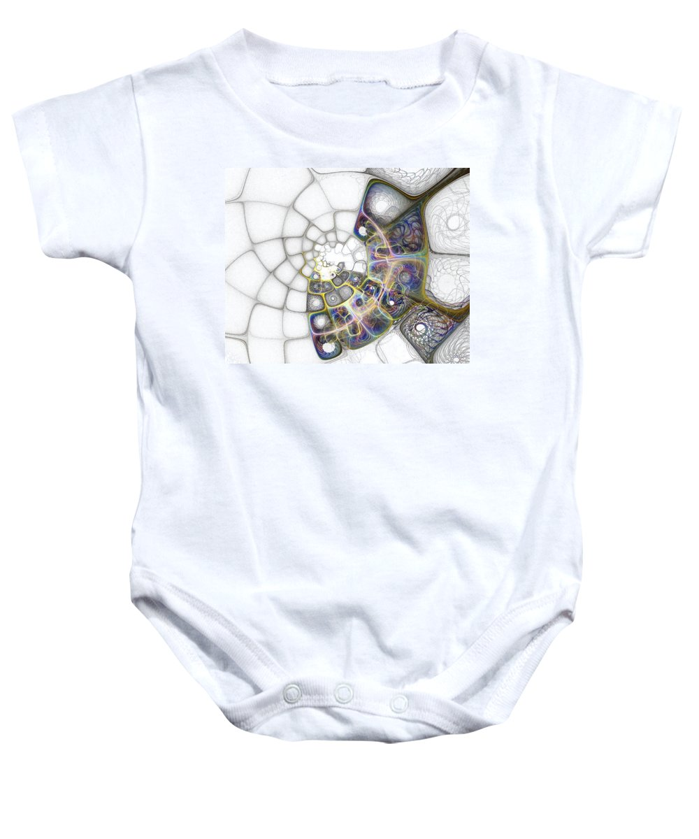 Digital Art Baby Onesie featuring the digital art Memories by Amanda Moore