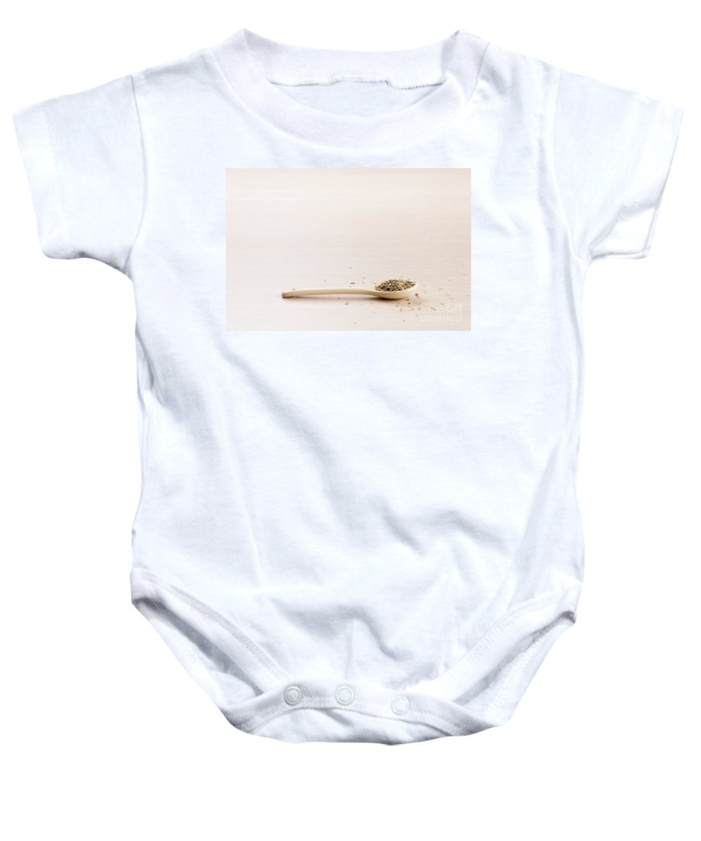 Herbs Baby Onesie featuring the photograph Oregano by Tim Hester