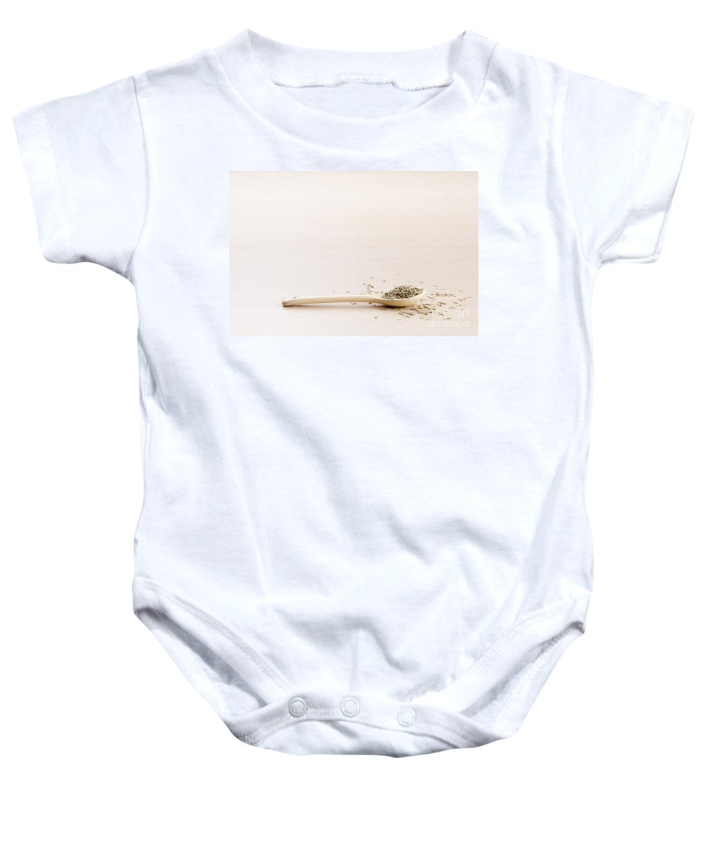 Herbs Baby Onesie featuring the photograph Rosemary by Tim Hester