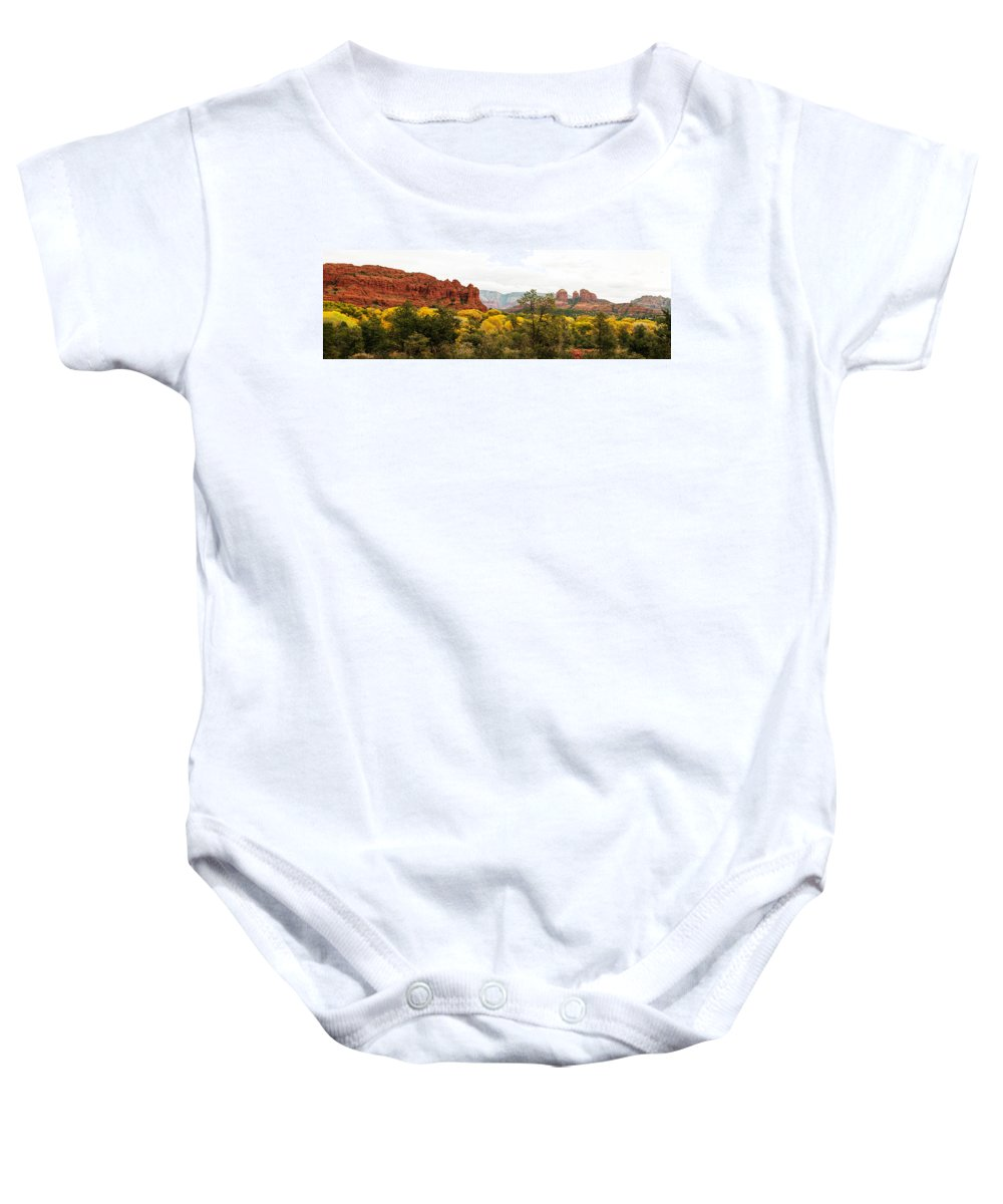 Fall Color Baby Onesie featuring the photograph Sedona Panorama by Tam Ryan