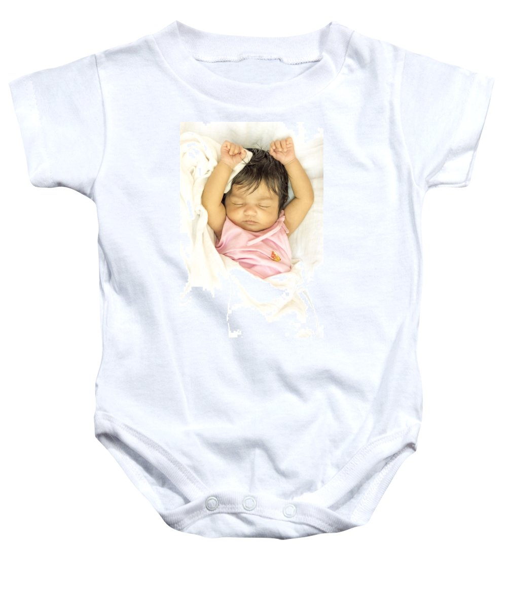 Sleeping Baby Onesie featuring the photograph Sleeping Baby by Jijo George