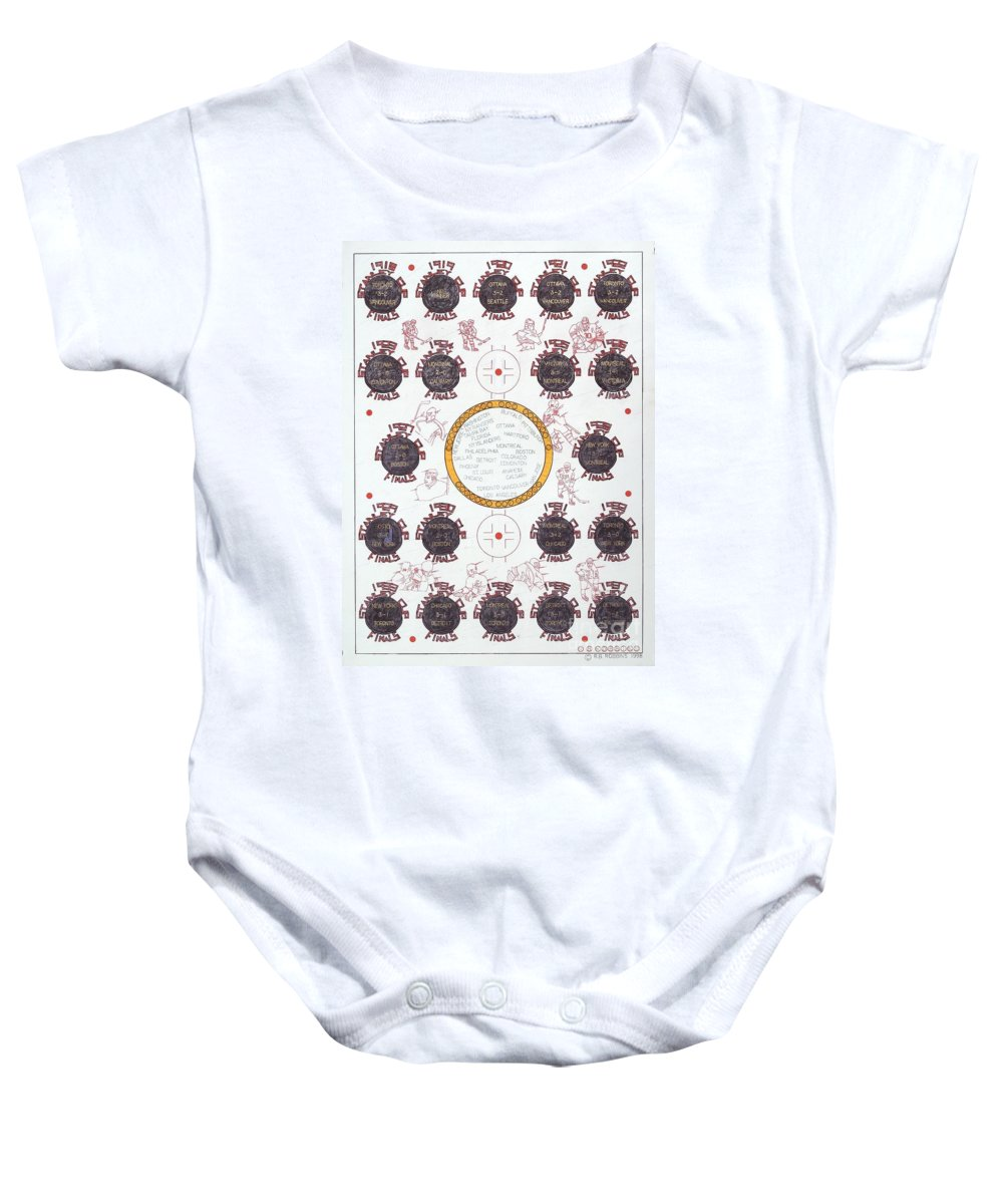Puck Baby Onesie featuring the mixed media Stanley Cup Poster by Robert Robbins