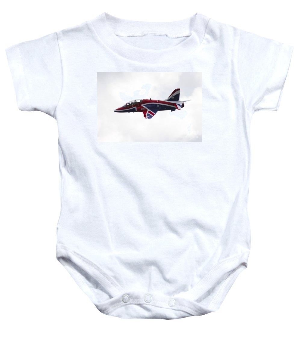 Hawk Baby Onesie featuring the photograph Union Jack Hawk by J Biggadike