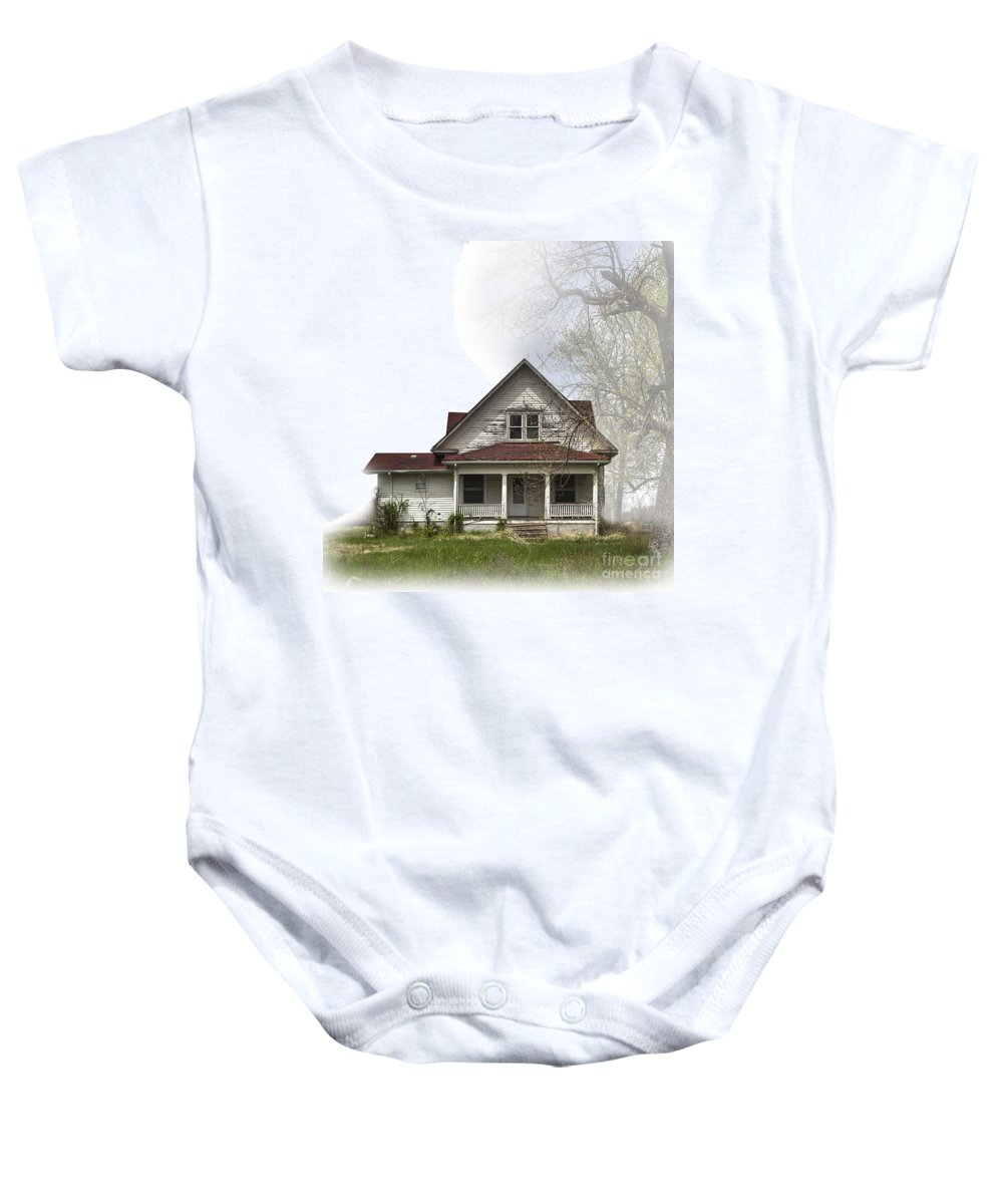 2011 Baby Onesie featuring the photograph Vintage Abode by Larry Braun