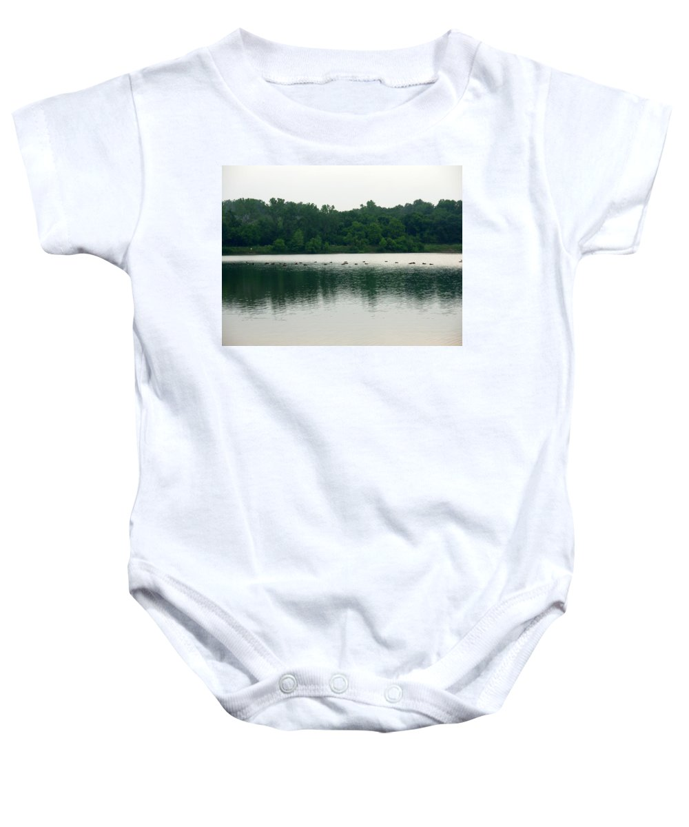 Lake Baby Onesie featuring the photograph 1254c by Kimberlie Gerner
