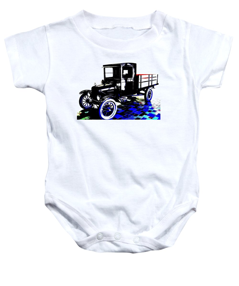1926 Ford Model T Stakebed Baby Onesie featuring the digital art 1926 Ford Model T Stakebed by Will Borden