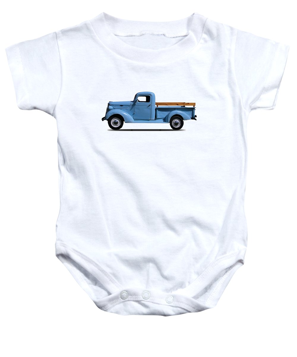 1937 Baby Onesie featuring the photograph 1937 Chevrolet Pickup Truck by Nick Gray