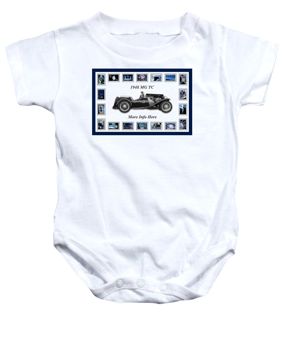 1948 Mg Tc Art Baby Onesie featuring the photograph 1948 Mg Tc by Jill Reger