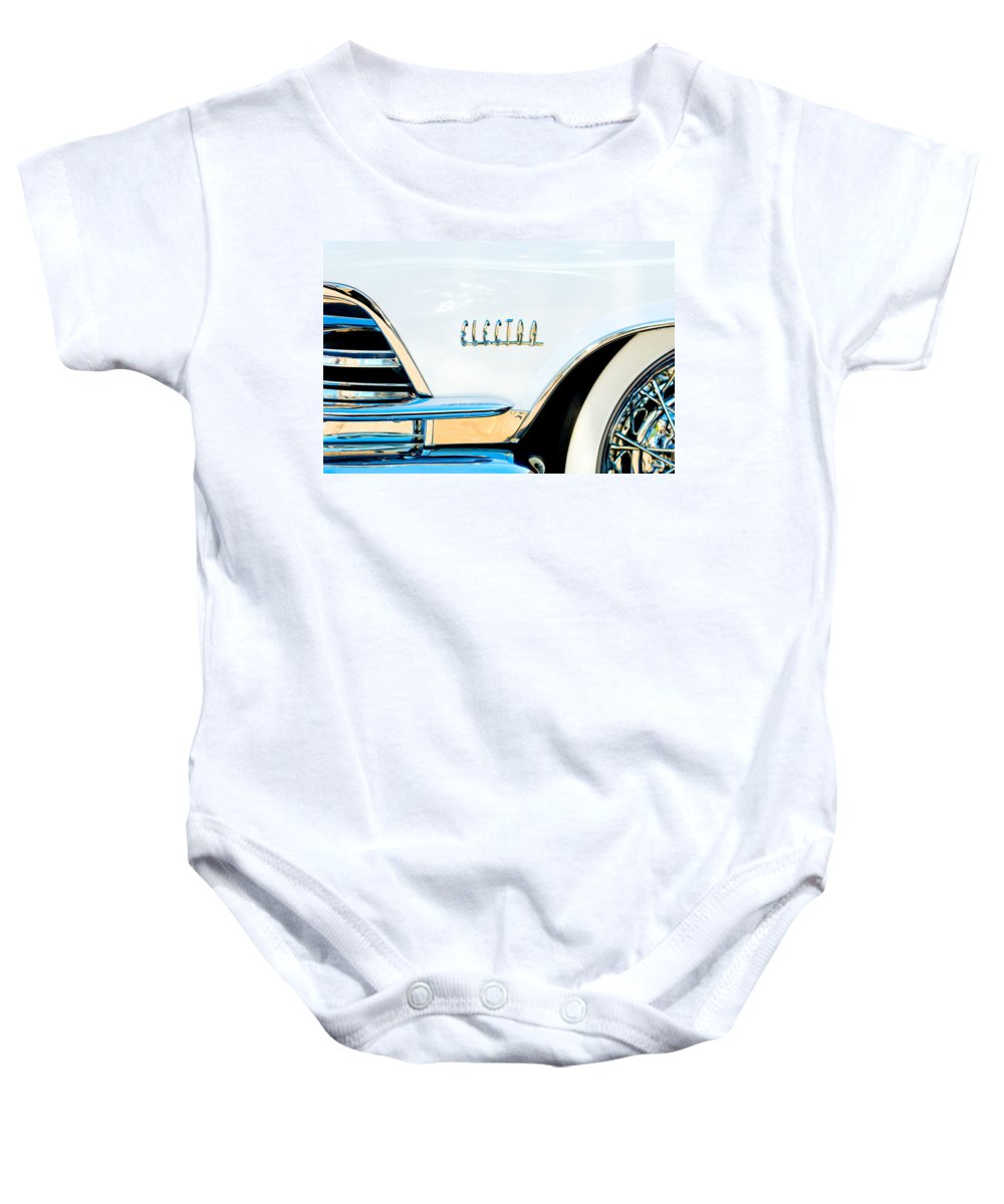 1959 Buick Electra Emblem Baby Onesie featuring the photograph 1959 Buick Electra Emblem by Jill Reger