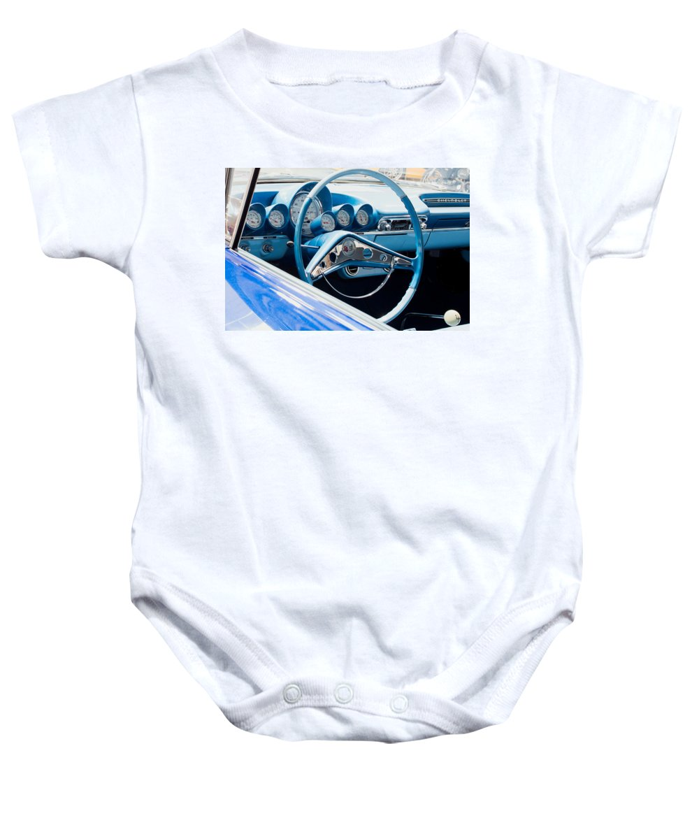 1960 Chevrolet Bel Air Baby Onesie featuring the photograph 1960 Chevrolet Bel Air 4 012315 by Rospotte Photography