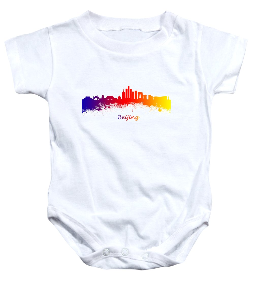 Beijing Baby Onesie featuring the photograph Beijing China Skyline by Chris Smith