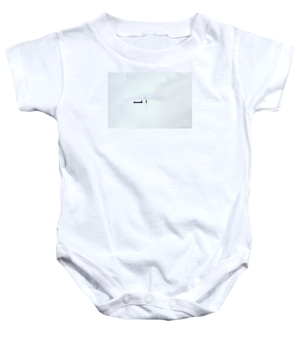 Scenic Tours Baby Onesie featuring the photograph Crabbers by Skip Willits
