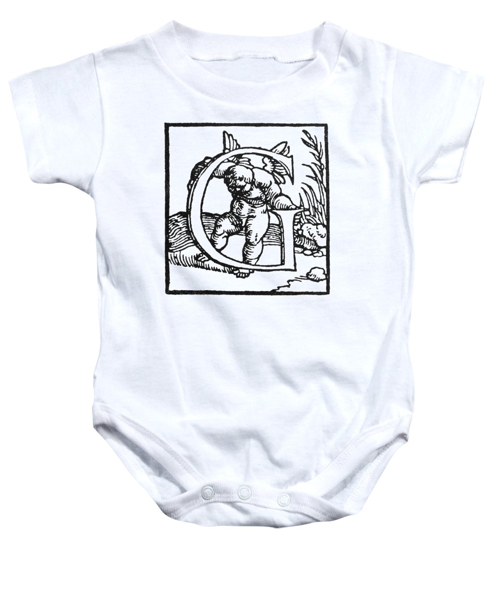16th Century Baby Onesie featuring the painting Decorative Initial G by Granger