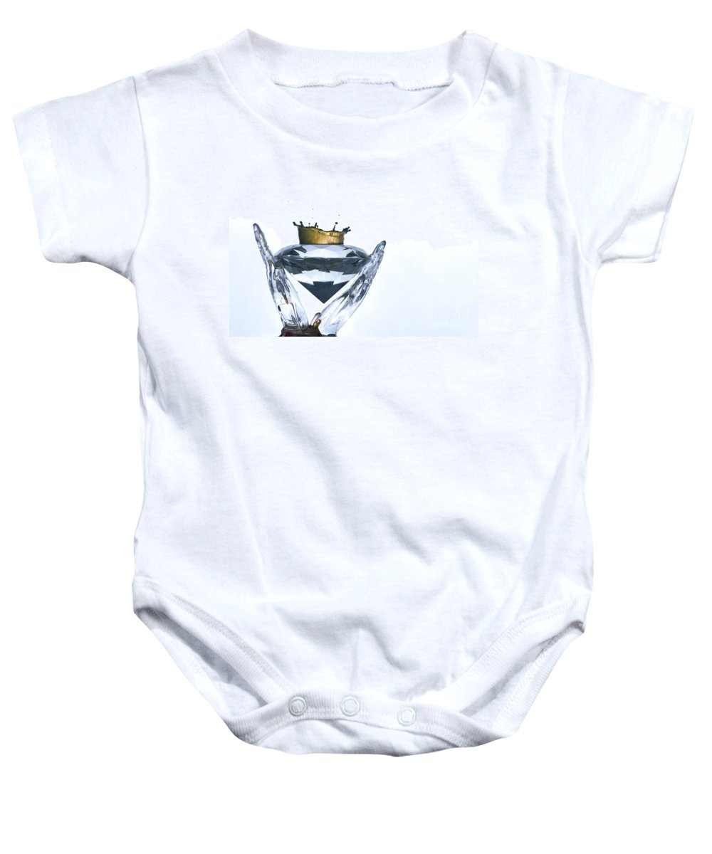 Wealth Baby Onesie featuring the photograph Liquid Coronet by Guy Viner