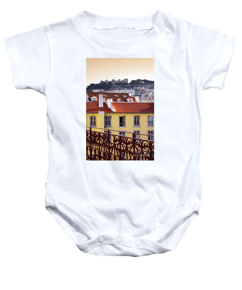 Lisbon Baby Onesie featuring the photograph Lisbon View by Carlos Caetano