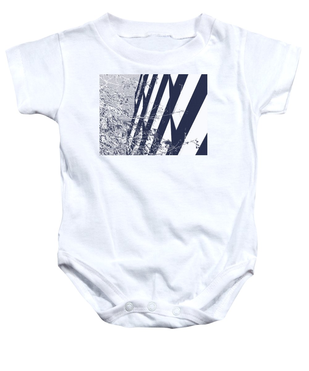 Abstract Baby Onesie featuring the photograph Man And Nature by Lenore Senior