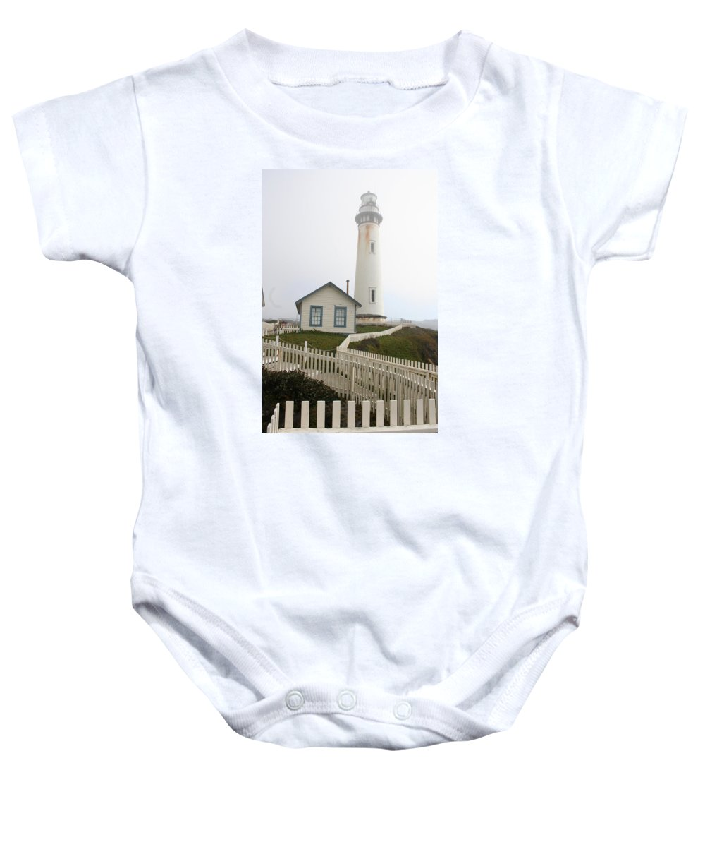 Lighthouse Baby Onesie featuring the photograph Pigeon Point Light by Christiane Schulze Art And Photography